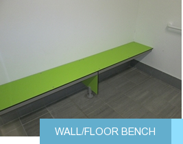 Wall/floor bench